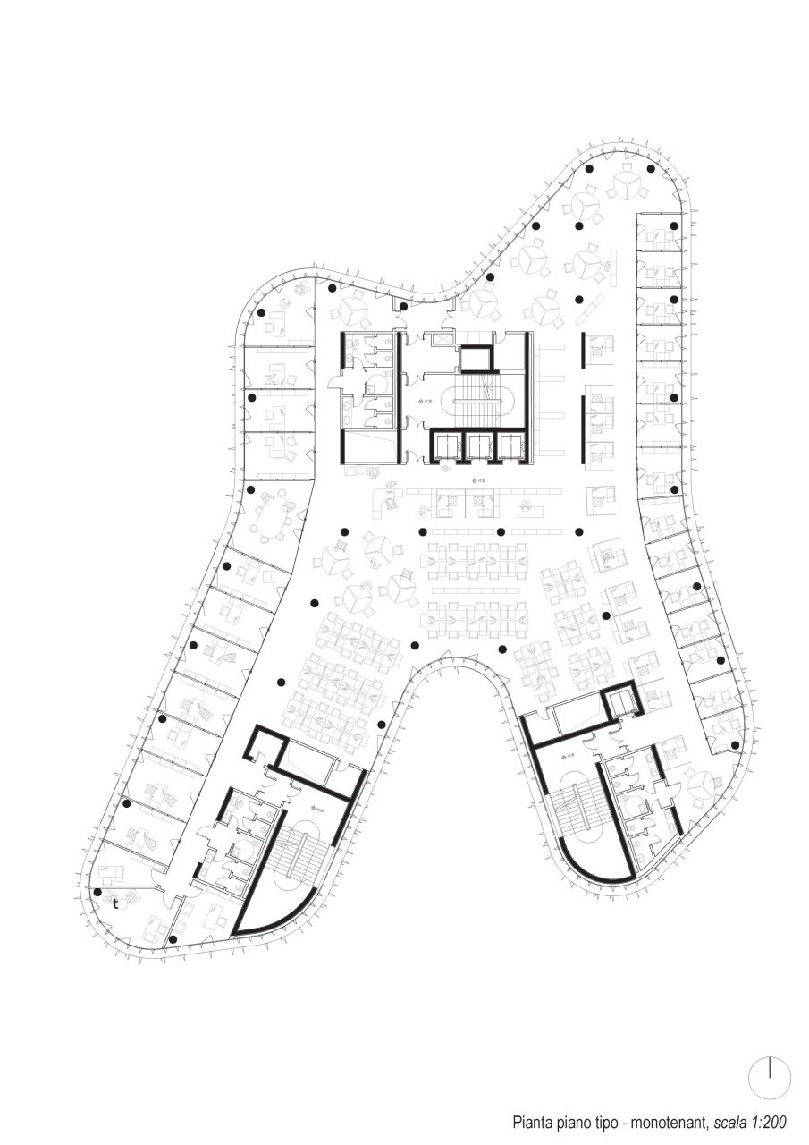 4/7 Standard floor plan: single tenant